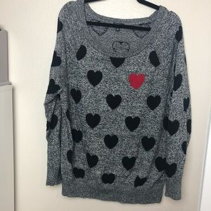 Torrid Cotton Heart Sweater Size 2